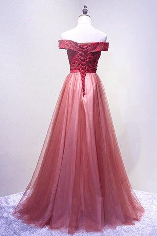 products/ED2125_1A_Line_Red_Off_Shoulder_Long_Tulle_Prom_Dresses.jpg