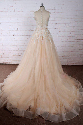 products/ED2327_1A_Line_Round_Neck_Chapel_Train_Tulle_Prom_Gown_with_Applique.jpg