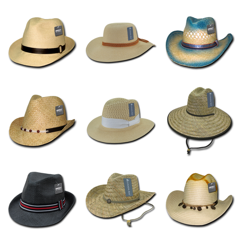 blank & custom straw hats (embroidered), bulk & wholesale straw hats, promotional straw hats, & custom hat embroidery
