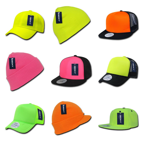 blank & custom neon hats (embroidered), bulk & wholesale neon hats, promotional neon hats, & custom hat embroidery