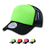 Wholesale Blank 2-Tone Neon Foam Trucker Hats - Decky 220