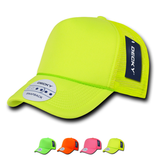 Wholesale Blank Neon Trucker Foam Mesh Hats - Decky 221