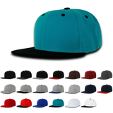 Wholesale Blank Kids' Youth Flat Bill Snapback Hats - Decky 7011