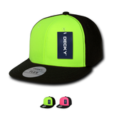 Wholesale Blank Flex Neon Flat Bill Snapback Hats - Decky 874