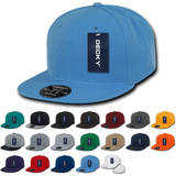 Wholesale Blank Fitted Snapback Flat Bill Hats (7 3/8 - 7 3/4) - Decky RP1