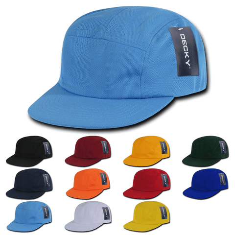 5-Panel Racer Racing Jockey Hat Camper Cap Performance Mesh - Decky 1000