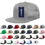 Lot of 12 Decky 5-Panel Trucker Snapback Hats Flat Bill Mesh Caps Bulk