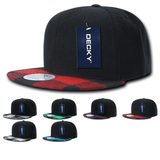 Buffalo Plaid Snapback Flat Bill Hats - Decky 1045