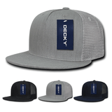 5- Panel Denim Hat Trucker Flat Bill Cap - Decky 1082