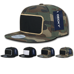 Snapback Flat Bill Patch Hats - Decky 1096