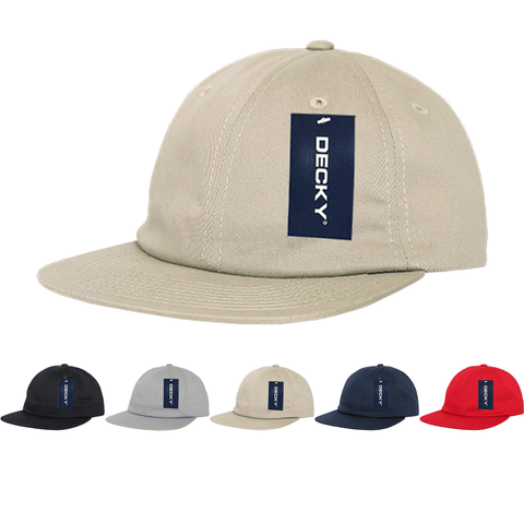 Flat Bill Relaxed Dad Hats - Decky 200