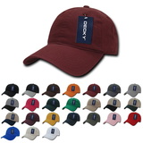 Lot of 12 Decky Cotton Dad Hats Relaxed Baseball Caps Bulk