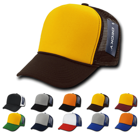 Blank Trucker Foam Industrial Safety Hats - Decky 212