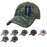 Camo Trucker Mesh Dad Hats - Decky 225
