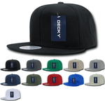 Lot of 12 Decky Cotton Snapback Hats Flat Bill Caps Bulk