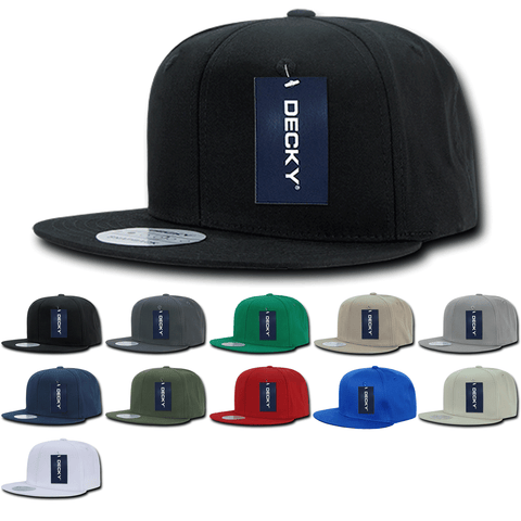 Blank Snapback Flat Bill Cotton Hats - Decky 361