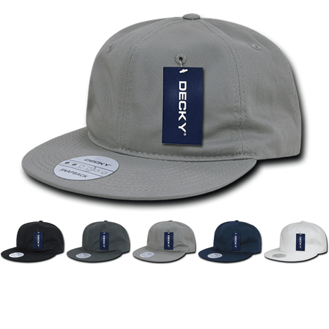 Relaxed Snapback Flat Bill Dad Hats - Decky 370