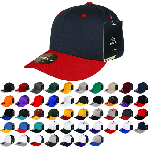 Pro Twill Cotton Baseball Cap, Snapback Hat - Decky 4001