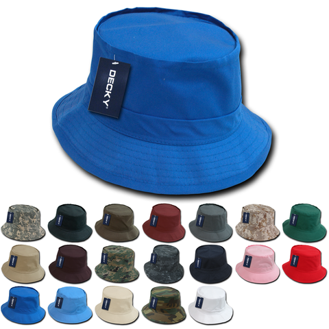 Lot of 12 Decky Fisherman Hats, Bucket Hats Bulk