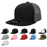 Blank Kids' Youth Trucker Flat Bill Snapback Hats - Decky 5010