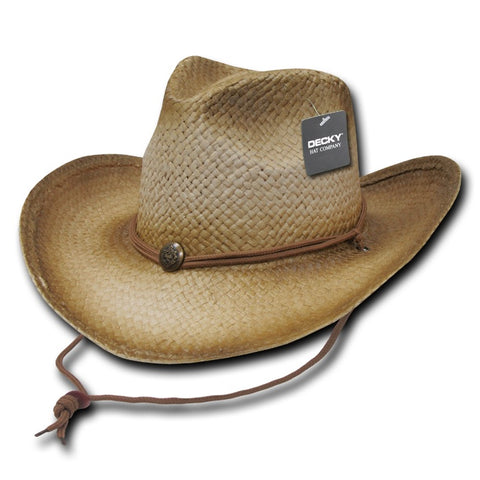 Paper Straw Woven Cowboy Hat - Decky 525