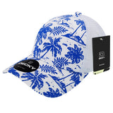 Tropical Hawaiian Trucker Hat Baseball Cap Tropics Palm Tree - Decky 6000