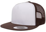 Yupoong 6006W Class Trucker Mesh Hat - White Front