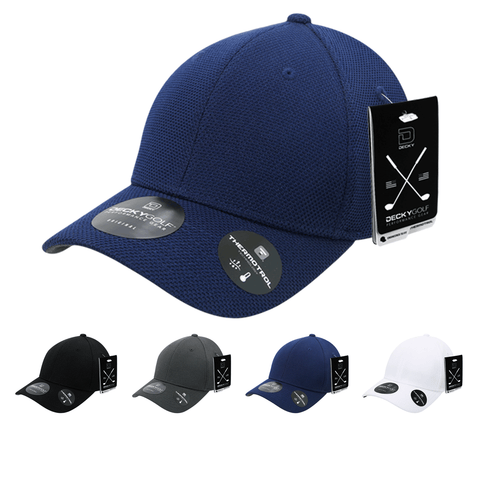 Pique Pattern Structured Baseball Hat - Golf & Sports Cap - Decky 6101