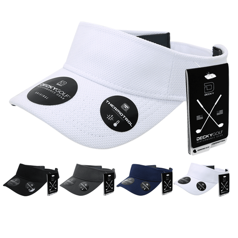 Pique Pattern Sun Visor - Golf & Sports Cap - Decky 6104