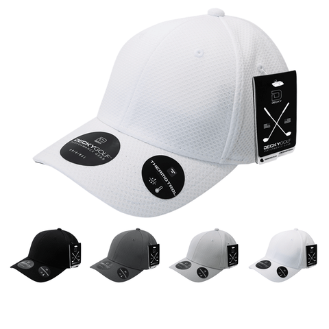 Dimple Pattern Structured Baseball Hat - Golf & Sports Cap - Decky 6201