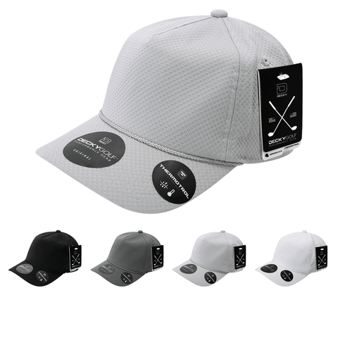 Dimple Pattern 5 Panel Baseball Hat - Golf & Sports Cap - Decky 6206