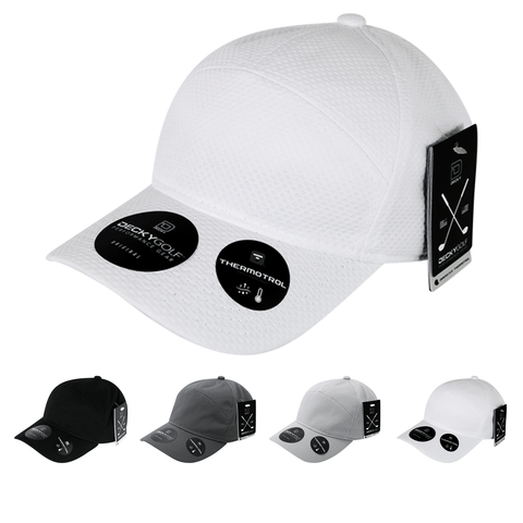Dimple Pattern 7 Panel Baseball Hat - Golf & Sports Cap - Decky 6211