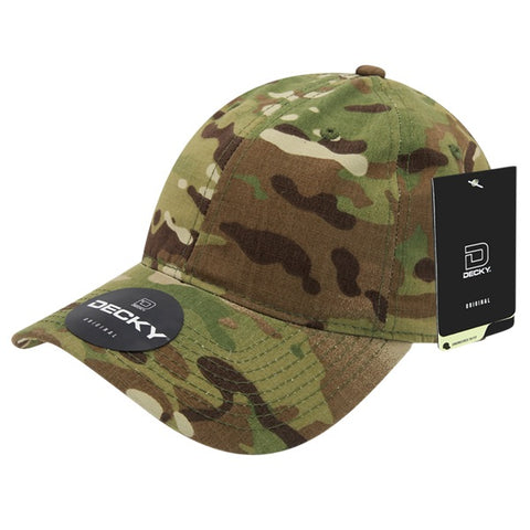 MultiCam Camo Baseball Hat Relaxed Dad Cap - Decky 6300