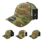 MultiCam Camo Trucker Hat Structured Baseball Cap - Decky 6306
