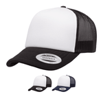 Yupoong 6320W Curved Foam Trucker Cap - White Front