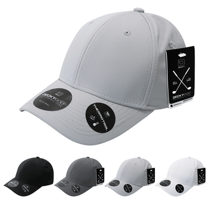 Sleek H20 Structured Baseball Hat - Golf & Sports Cap - Decky 6401