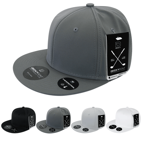 Sleek H20 Snapback Hat Flat Bill - Golf & Sports Cap - Decky 6403