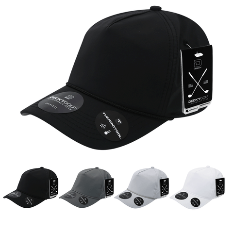 Sleek H20 5-Panel Baseball Hat - Golf & Sports Cap - Decky 6406