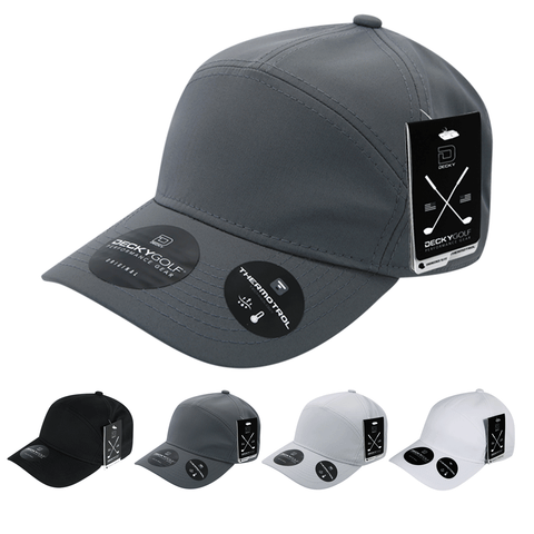 Sleek H20 7-Panel Baseball Hat - Golf & Sports Cap - Decky 6411