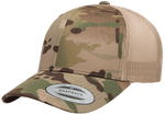 Yupoong 6606MC MultiCam Camo Retro Trucker Hat, Baseball Cap with Mesh Back, Camouflage