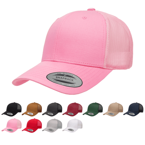 Yupoong 6606 Retro Trucker Hat, Baseball Cap with Mesh Back
