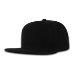 Decky SuperValue Blank Snapback Hat, Flat Bill, Bulk Snapback Hats, Wholesale Snapback Hats in Bulk, Bulk Flat Bill Caps