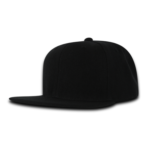 Decky SuperValue Blank Snapback Hat, Flat Bill, Bulk Snapbacks, Blank Caps - Similar to Decky 350, 351