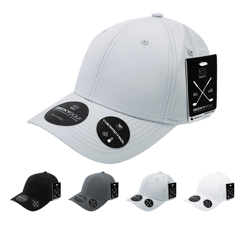 Grid H20 Structured Baseball Hat - Golf & Sports Cap - Decky 7101