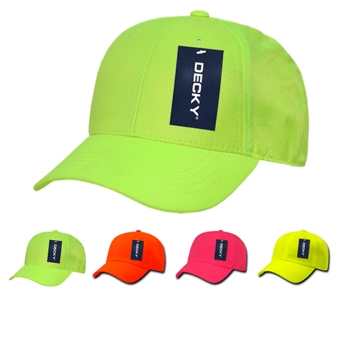 Neon Baseball Hats Bright Color Blank Caps - Decky 761