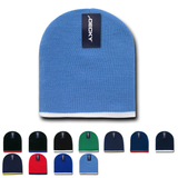 Single Stripe Knit Beanies - Decky 8007