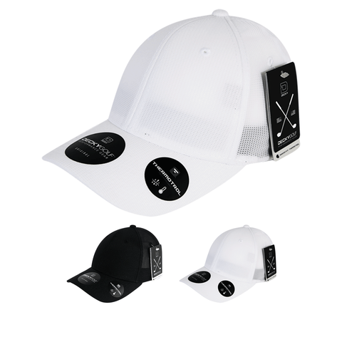 Screen Fabric Flex Baseball Hat - Golf & Spots Cap - Decky 8102