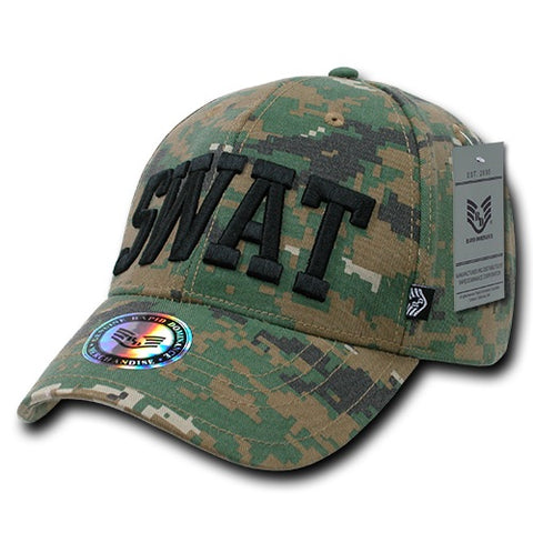 Digital Camo SWAT Hat Baseball Cap Police Camouflage - Rapid Dominance 943