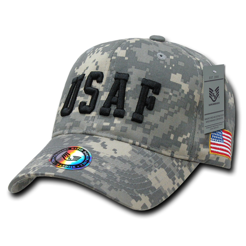 US Air Force Digital Camo Hat, Air Force Baseball Cap, USAF Hat - Rapid Dominance 944