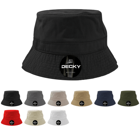 Blank Polo Bucket Hats - Decky 961